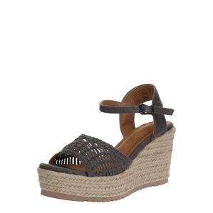 Refresh Páskové sandály  tmavě šedá
