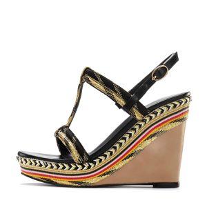 LASCANA Sandály  mix barev / černá