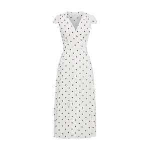 IVY & OAK Koktejlové šaty 'Wrap Dress Midi'  černá / bílá