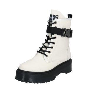 BRONX Šněrovací boty 'BX 1572-rifka-super-chunky'  bílá