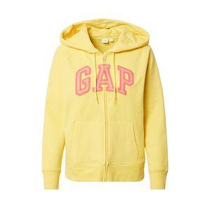 GAP Mikina s kapucí 'FASH'  žlutá / pink
