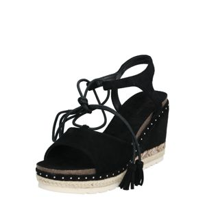 Refresh Páskové sandály  písková / černá