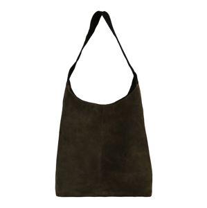 PIECES Nákupní taška 'PCJUNE SUEDE'  jedle / černá