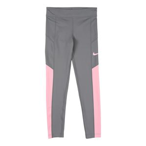 NIKE Sportovní kalhoty 'TROPHY'  šedá / pink