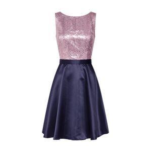 VM Vera Mont Koktejlové šaty  tmavě modrá / šeříková