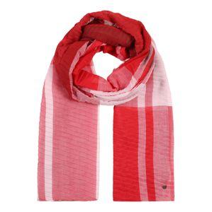 ESPRIT Látková rouška 'PlisseCheckScar'  růžová / červená / oranžová