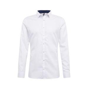 OLYMP Společenská košile 'No. 6 Uni Struktur'  bílá