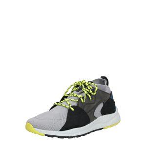 COLUMBIA Sportovní boty  šedá / tmavě šedá / černá / petrolejová / žlutá