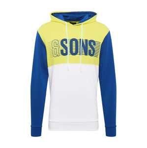 Only & Sons Mikina  královská modrá / žlutá / bílá
