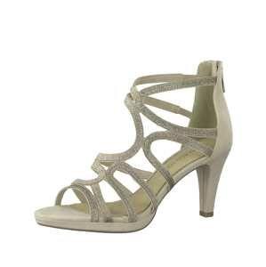 MARCO TOZZI Páskové sandály  šedobéžová