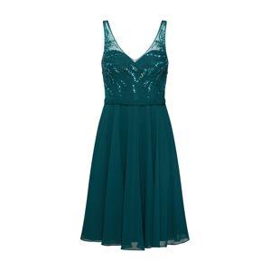 Mascara Společenské šaty 'BEADED CHIFFON'  tmavě zelená