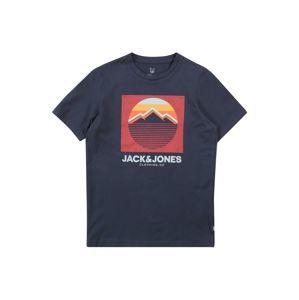 Jack & Jones Junior Tričko  námořnická modř / bílá