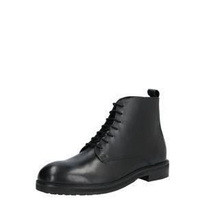 Hudson London Šněrovací boty 'ROWAN TANKER BT'  černá