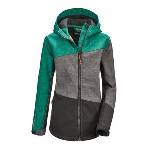 KILLTEC Sportovní bunda 'Lynge  JCKT B'  smaragdová / šedá / tmavě šedá