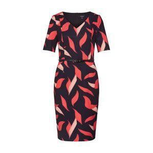 COMMA Šaty  černá / oranžově červená / červená