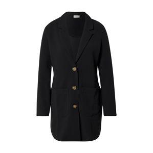 JACQUELINE de YONG Přechodný kabát 'JDYSTONE L/S SPRING JACKET JRS'  černá