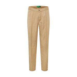 UNITED COLORS OF BENETTON Kalhoty se sklady v pase  velbloudí