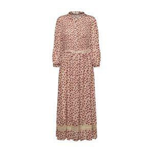 ARTLOVE Paris Košilové šaty '52101'  béžová / vínově červená