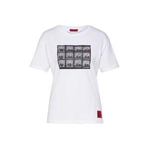 HUGO Tričko 'Demali'  černá / bílá