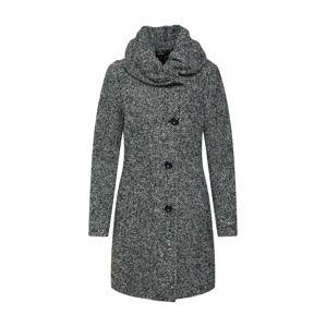 COMMA Zimní kabát  šedý melír / černá