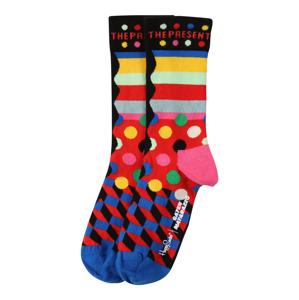 Happy Socks Ponožky 'No Time Like The Present'  modrá / žlutá / pink / bílá / pastelově zelená