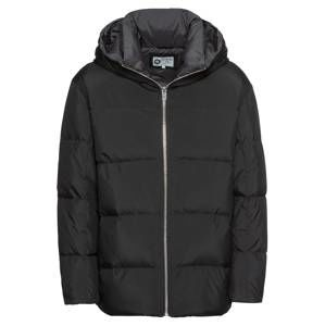 JACK & JONES Zimní bunda 'JCOROUND'  šedá / černá