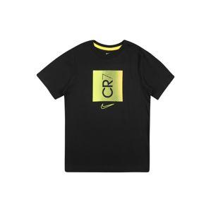 NIKE Funkční tričko  černá / žlutá