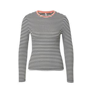 ONLY Tričko 'ONLTINEA'  oranžová / černá / offwhite