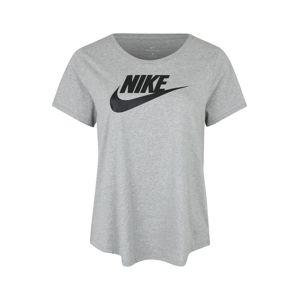 Nike Sportswear Tričko 'FUTURA PLUS'  šedý melír / černá