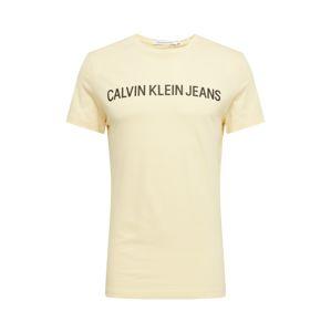 Calvin Klein Jeans Tričko  černá / citronová