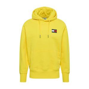 Tommy Jeans Mikina  žlutá / bílá / červená / modrá