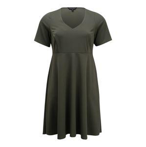 Dorothy Perkins Curve Šaty 'GREEN V NECK DRESS'  zelená