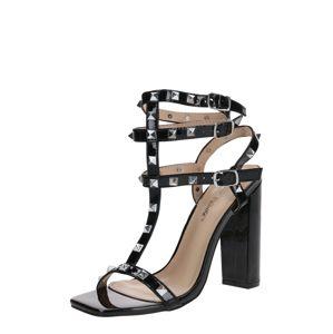 Public Desire Páskové sandály  černá