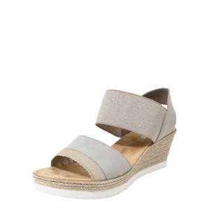 RIEKER Páskové sandály  šedá