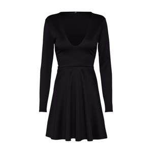 Missguided Šaty 'Black Scuba Plunge Skater Dress'  černá