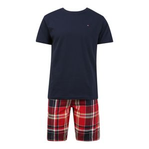 Tommy Hilfiger Underwear Pyžamo krátké  krvavě červená / námořnická modř