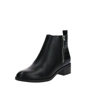 ONLY Kotníkové boty 'BRIGHT STRUCTURE PU BOOTIE'  černá