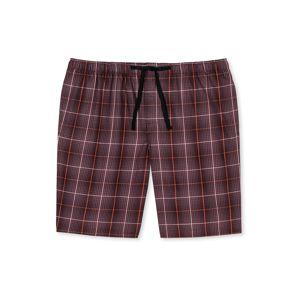 SCHIESSER Pyžamové kalhoty 'Bermuda'  červená / černá