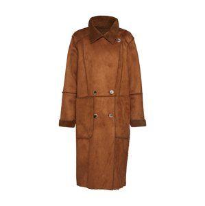 VILA Zimní kabát 'SHERLING'  hnědá