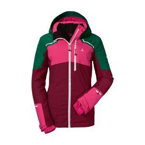 Schöffel Outdoorová bunda 'Axams3'  tmavě zelená / bobule / pink