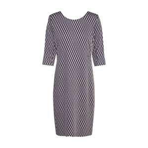 CINQUE Pouzdrové šaty 'CIDRAIN'  světle béžová / tmavě modrá