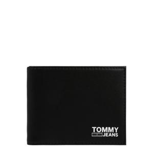 Tommy Jeans Peněženka 'ESSENTIAL'  černá / bílá