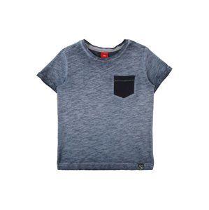 S.Oliver Junior Tričko  tmavě modrá / černá