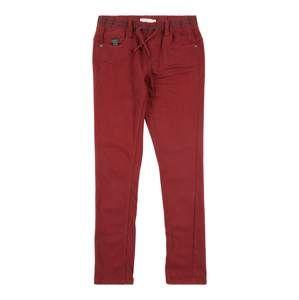 NAME IT Kalhoty 'NKMROBIN TWIARNE SWE PANT BN'  vínově červená