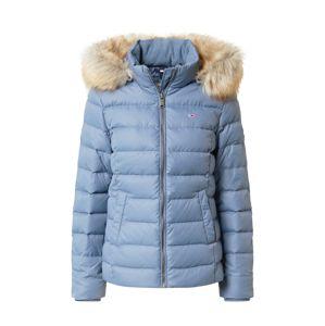 Tommy Jeans Zimní bunda  kouřově modrá / světle hnědá