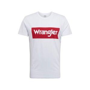 WRANGLER Tričko  červená / bílá