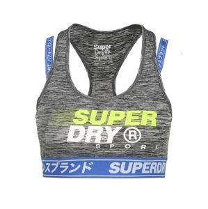 Superdry Sportovní podprsenka  limetková / šedý melír / modrá
