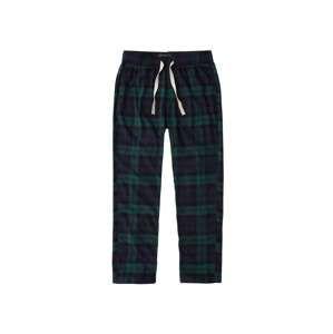 Abercrombie & Fitch Pyžamové kalhoty  námořnická modř / zelená