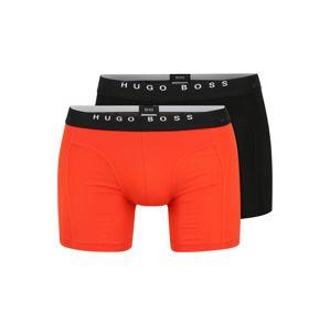 BOSS Boxerky  černá / oranžová