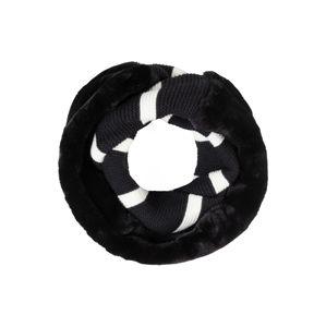 CODELLO Kruhová šála '20X170'  černá / bílá